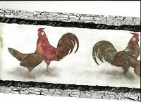 Roosters, Chickens With Gray Accents Wallpaper Border Sp76452b