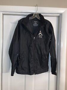 LL-Bean-Black-Misses-Rain-Jacket-Size-Large