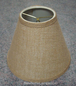 Rustic-034-Bulb-Clip-034-Style-BURLAP-LAMP-SHADE-Table-Desk-Light-Cottage-Cabin-Decor