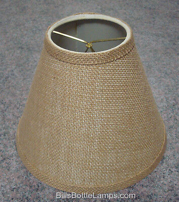 Rustic Bulb Clip Style Burlap Lamp, Burlap Lamp Shades For Table Lamps