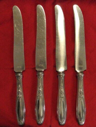 4 Dinner Knives 1847 Rogers Bros Silver Plated Ambassador Pattern