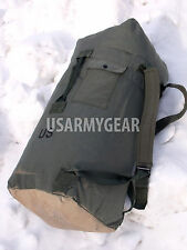 Army Military Duffle Bag Sea Bag OD Waterproof Painted Bottom Back Pack USA Made