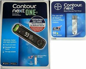 Bayer-Contour-Next-ONE-System-Wireless-Meter-kit-and-50-Strips-exp-1-2022