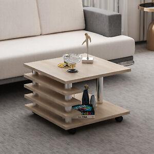 Details zu Couchtisch Sonoma Eiche Nachbildung 65 x 65 cm Tisch  Wohnzimmertisch Sofatisch