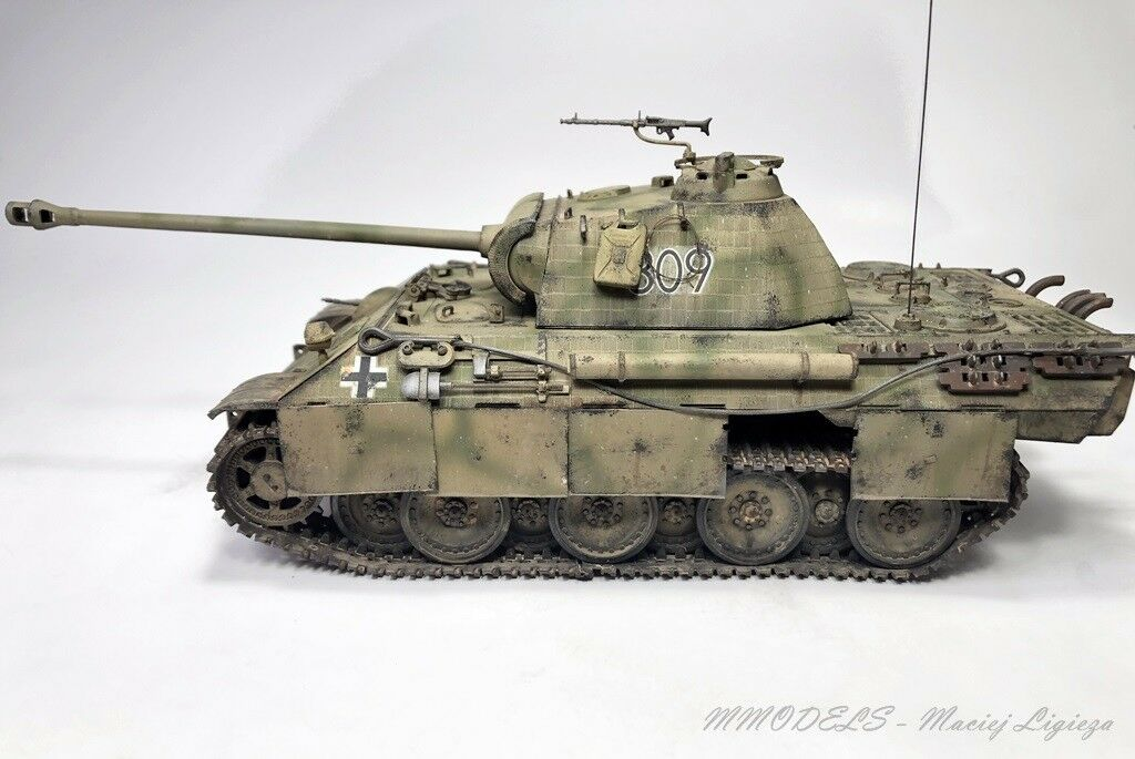 PzKpfw V Panther scale 1 35 - built and painted - MModels