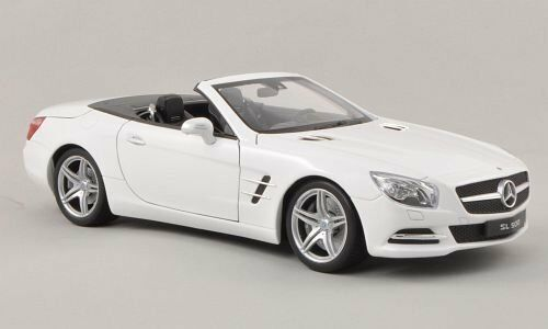 Mercedes SL500 (R231) Congreenible 2012 White 1 18 Model 18046C-WE WELLY