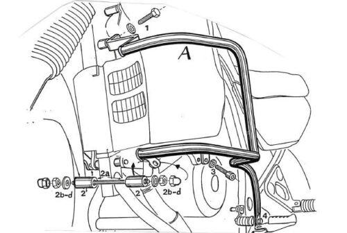 Honda XL 600 V Transalp Engine protection bar Black BY HEPCO AND BECKER