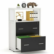 Modern Stylish File Cabinet With Lock Metal Wire Open Shelf And A4 Size Drawers