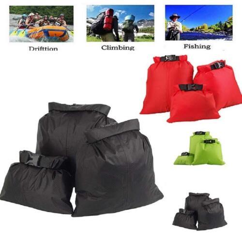 3 Pcs Kayaking Camping Ultralight Dry Bag Stuff Sack Waterproof Storage Bag MA
