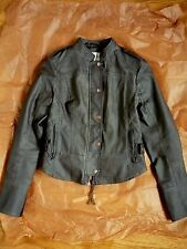 Anthropologie Vegan Leather Bomber Jacket by Hei Hei XXS (XS) Grey EUC
