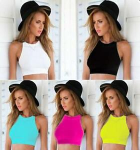 New-Sexy-Women-Crop-Tops-Cropped-Casual-Blouse-Vest-T-Shirt-Sleeveless-Tank-tops