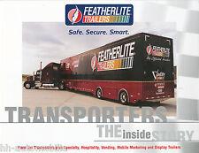 Prospekt Featherlite Race Car Transporters Hospitality Vending USA 1/01 brochure
