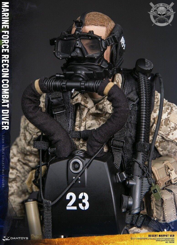 DAM Juguetes 1 6 escala 12  Marine Force Recon combate Diver Figura de Acción 78056