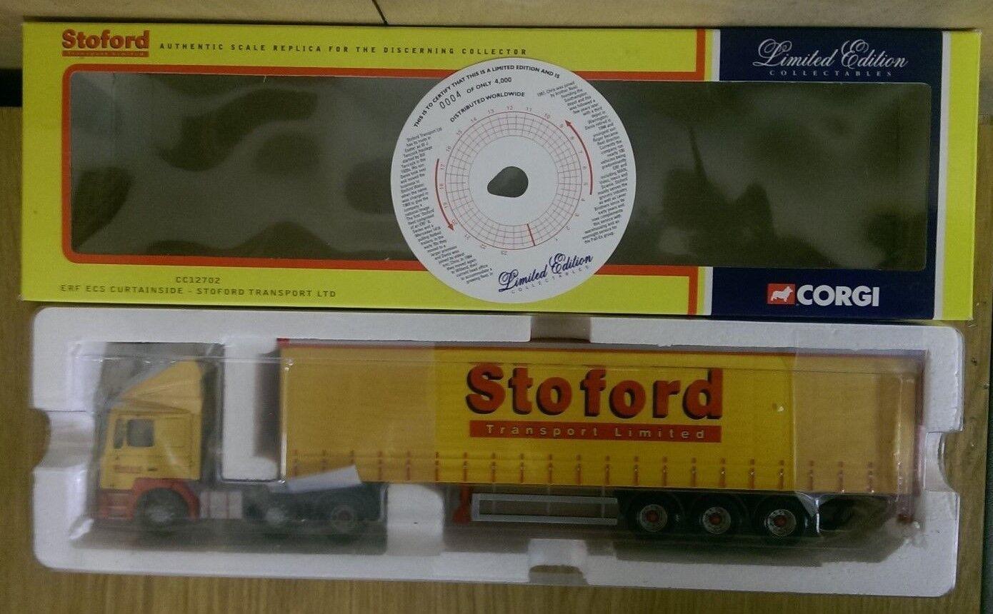 Corgi CC12702 ERF ECS Curtainside Stoford Transport Ltd Ed No. 0004 of 4000