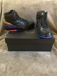 detailed look d25a0 ff492 Details about NIKE AIR JORDAN 2 RETRO BHM BLACK HISTORY MONTH SIZE 10.5 DS  WITH OG BOX