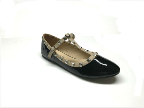 Brand New Women/'s Fashion Studded T-Strap Flats Shoes Size 5-10