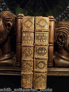 1682-1st-ed-History-of-Calvinism-2v-SET-John-Calvin-Huguenots-Reformation-France