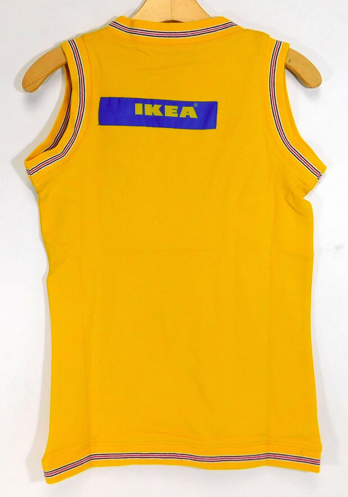 IKEA 2007 Logo SLIPOVER Sweater Vest SALES FEMALE Employee Yellow NEW W33 L25