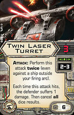 X-Wing Miniatures Twin Laser Turret Weapon Single Upgrade Card