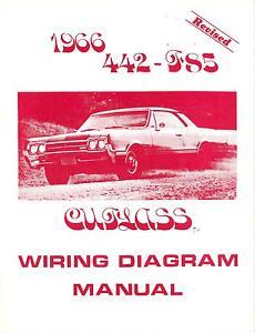 1966 66 OLDSMOBILE 4-4-2 /F85 WIRING DIAGRAM MANUAL | eBay