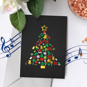 120s holiday musical gold foil card merry christmas musical greeting image is loading 120s holiday musical gold foil card merry christmas m4hsunfo