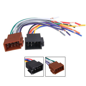 car stereo female socket radio iso wire harness adapter sets auto  auto wiring harness connectors kit #12