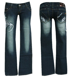 "TRIBAL /""Cracy Queen/"" w27-gr.34 JEANS /""Cracy Queen/"" Jeans Pantaloni TRIBAL Denim"