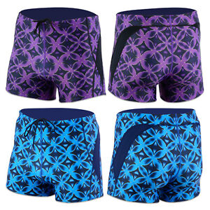 ACCLAIM-Cairns-Atlantic-Print-Boxer-Trunks-Mens-Tie-Cord-Nylon-Lycra-Swimming