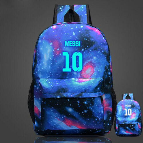 2019 Hot Luminous Lionel Messi Logo Barcelona 10 Backpack Christmas  School Bag