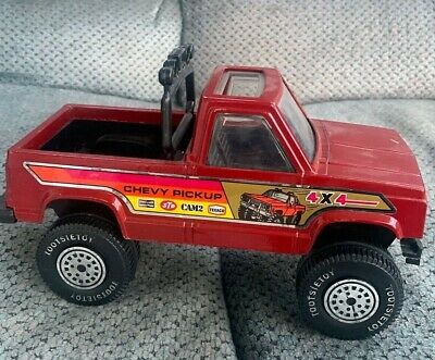 Tootsie Toy S 10 Chevy Pickup Truck Red 4x4 S10 Tootsietoy 4 X 4 Rare Plastic Ebay