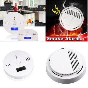 wireless photoelectric smoke alarm detector fire sensor for home security la ebay. Black Bedroom Furniture Sets. Home Design Ideas