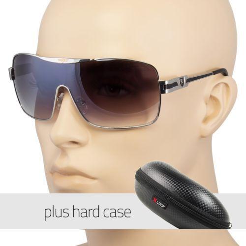 Sport Sunglasses Retro Fashion Men Black Shades Vintage Style Black Case Usa I