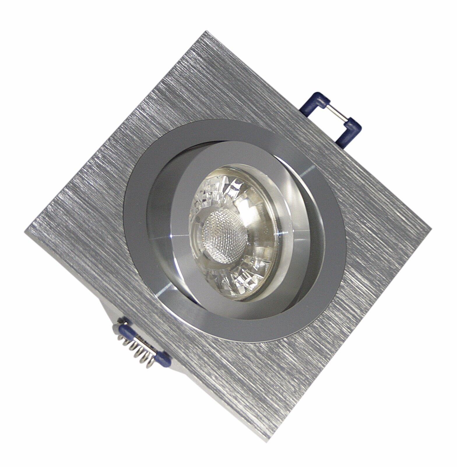 5-15er Set LED Einbauleuchte Kanto   Deckenspots   Eckig   7W   230V   550 Lumen