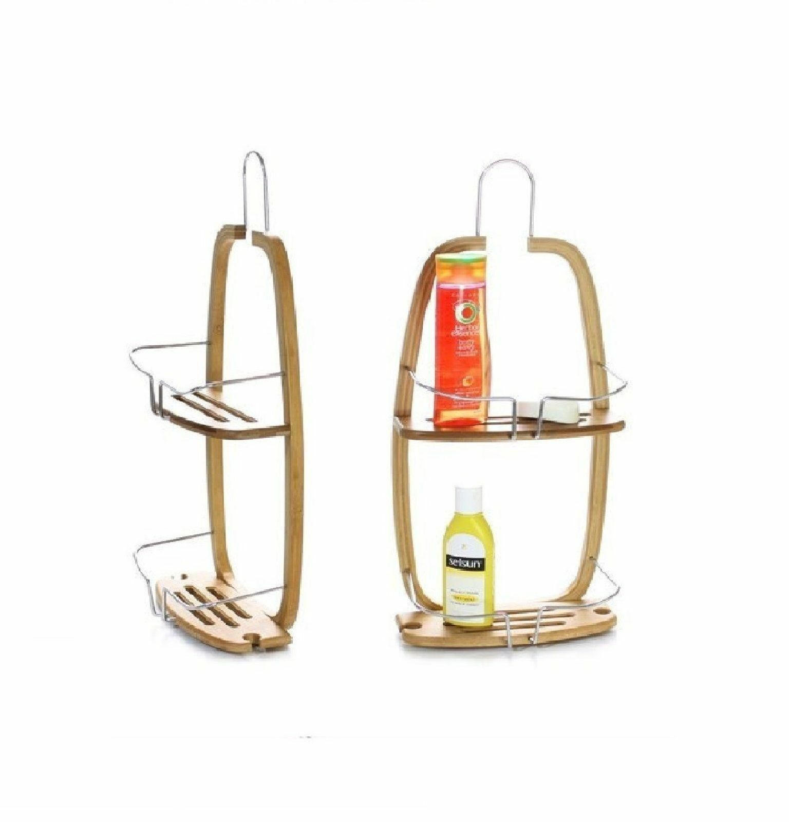 2 Tier Hanging Bamboo Caddy