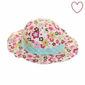 Details about Girls Flower Bucket Hat Kids Hot Cute Childrens Sun Beach  Holiday f4fae78f8e1