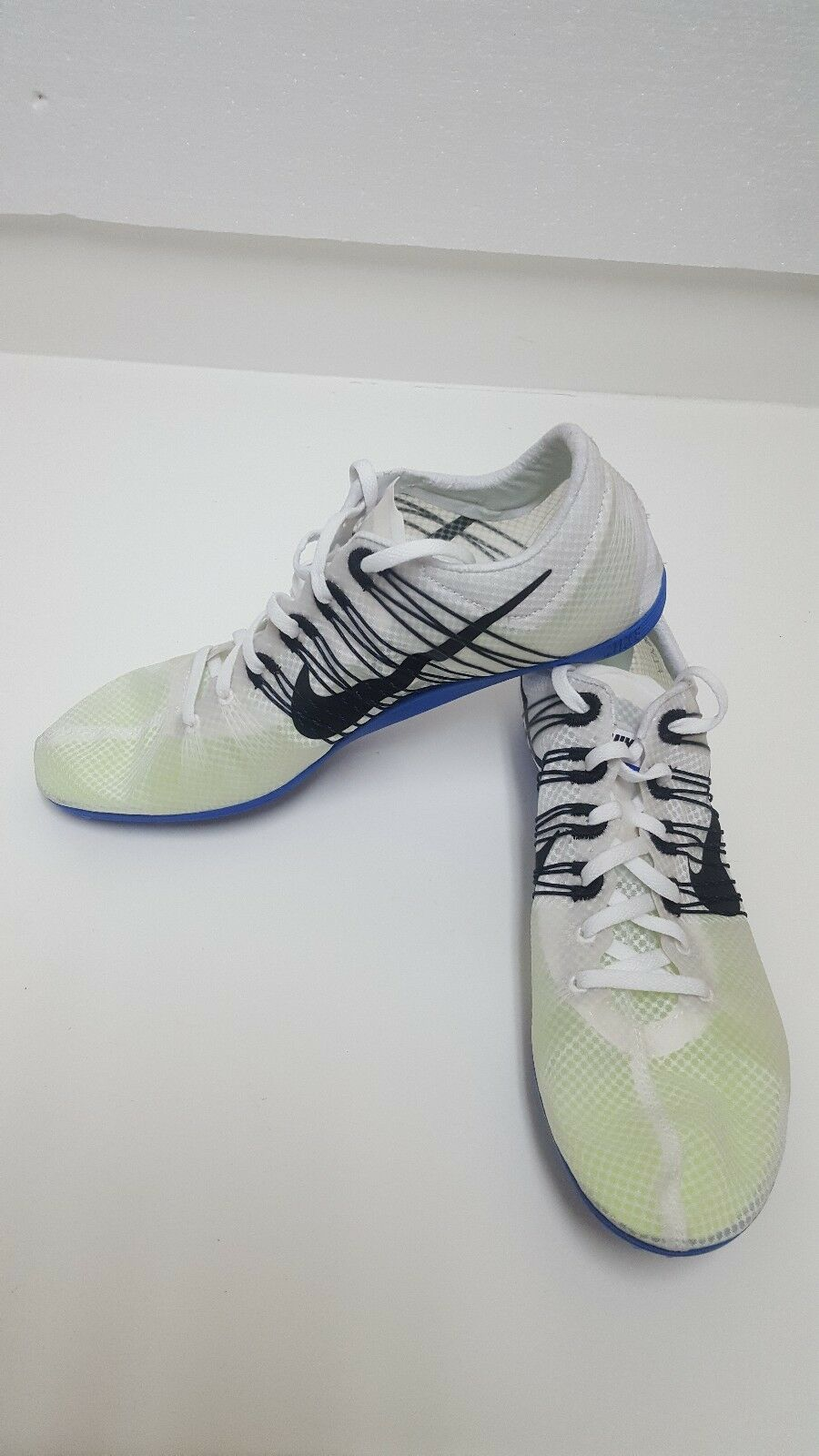 9bf633b7a Mens Nike Zm Victry Elite Spikes Running Running Running Shoes Wht Blue  Black 526627-100 SZ12.5 da1369