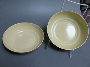 2-soup-cereal-Bowls-Branksome-China-England-Sahara-and-Pixie-Brown