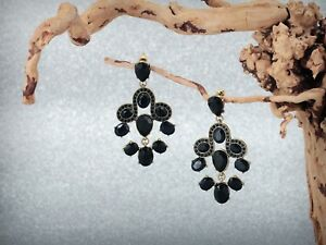 Earrings-Big-Nails-Art-Deco-Baroque-Black-Drop-Chandelier-AA9