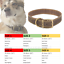 Ancol-Dog-Collar-Timberwolf-Leather-Puppy-Collar-Sable-Brown-Blue thumbnail 7