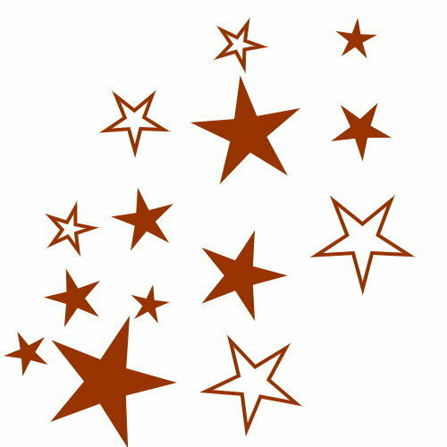 83  Aufkleber Sterne  Wandtattoo Möbel Fenster Fliesen XXL Set selbstklebend