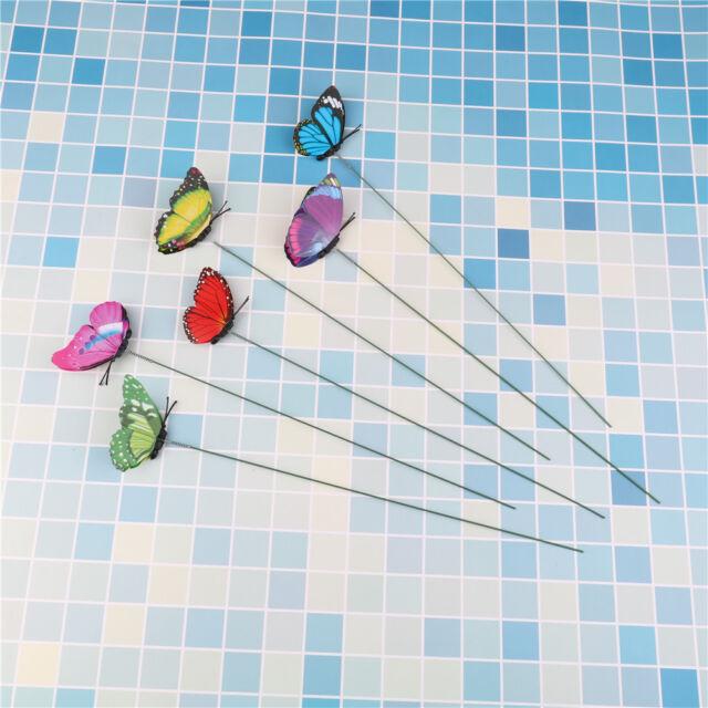 Lovely Butterfly On Sticks Home Decor Garden Vase Art Lawn Craft Decoration  I