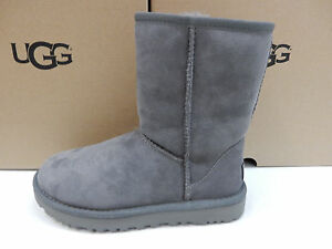 Image is loading UGG-WOMENS-BOOTS-CLASSIC-SHORT-II-GREY-SIZE-