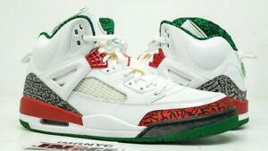 e0fb833857494 Details about AIR JORDAN SPIZIKE RETRO USED SIZE 13 WHITE VARSITY RED GREEN  CEMENT 315371 125