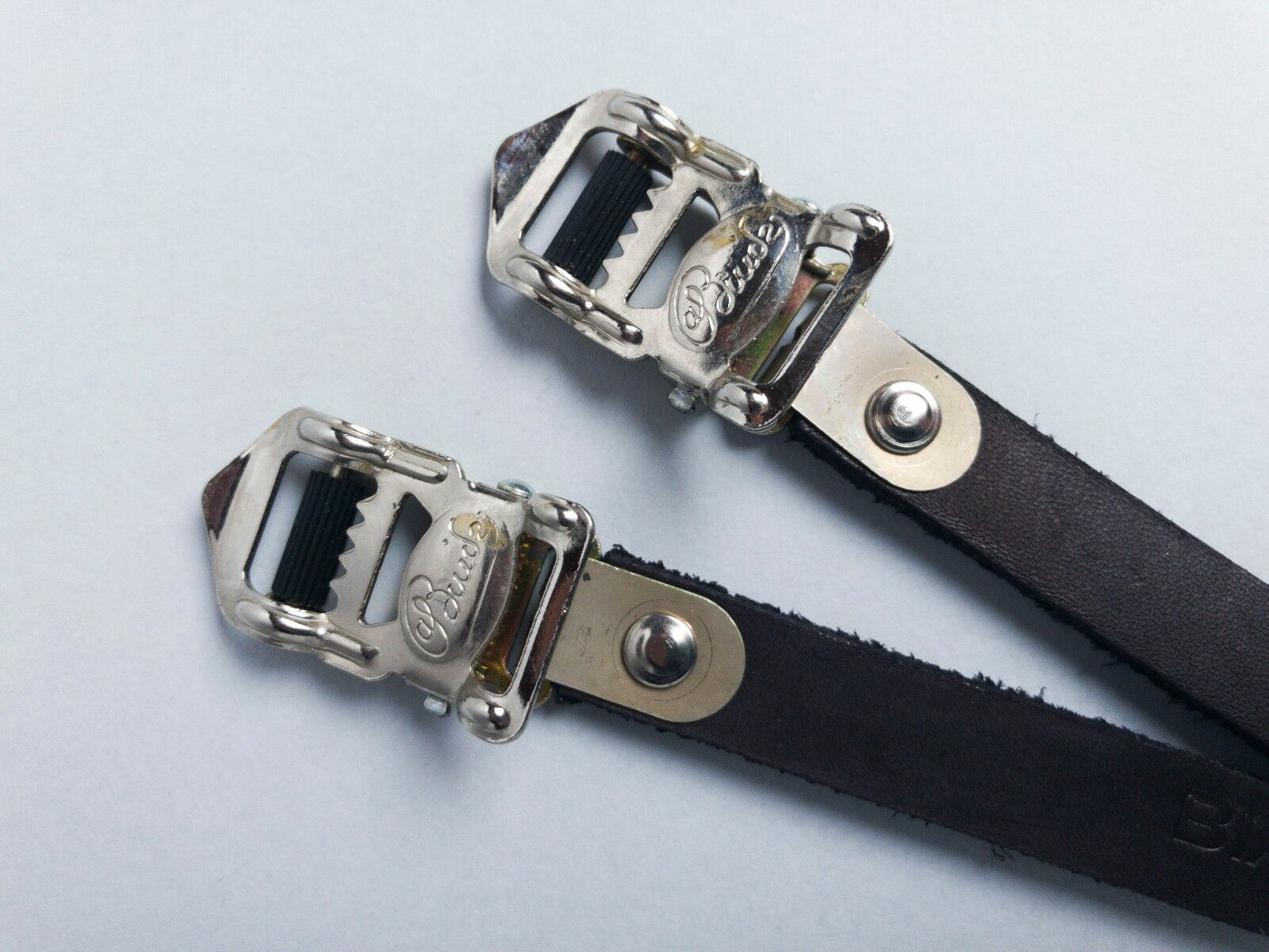ALFrotO BINDA  CINTURINI FERMAPIEDI NOS GALMOZZI toe straps leather NERI