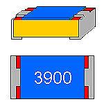 SMD-resistenza 390 Ohm 1/% 0,125 W modello 0805 CINTURE