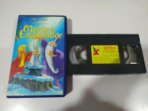 MERLIN-EL-ENCANTADOR-VHS-CINTA-LOS-CLASICOS-DE-WALT-DISNEY-Espanol-2T