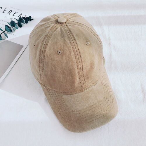 Low-key Retro Hat Unisex Denim Soft Top Hat Outdoor Cotton Baseball Cap
