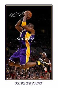 *KOBE BRYANT* Large signed wall poster of Lakers basketball star,great gift!