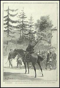Appris Gravure Domremy La Pucelle Militaire Militaria 1895