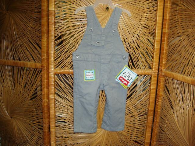 5ae8c0975a4c Wrangler gray denim overalls unisex baby girls and boys   toddlers ...